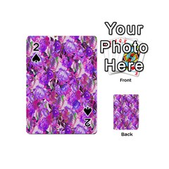 Flowers Abstract Digital Art Playing Cards 54 (Mini)