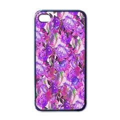 Flowers Abstract Digital Art Apple iPhone 4 Case (Black)