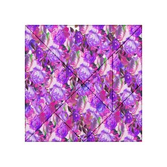 Flowers Abstract Digital Art Acrylic Tangram Puzzle (4  x 4 )