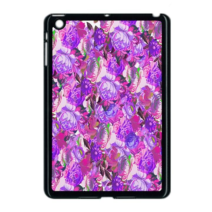 Flowers Abstract Digital Art Apple iPad Mini Case (Black)