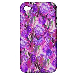 Flowers Abstract Digital Art Apple Iphone 4/4s Hardshell Case (pc+silicone)