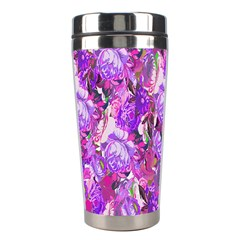 Flowers Abstract Digital Art Stainless Steel Travel Tumblers