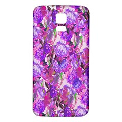 Flowers Abstract Digital Art Samsung Galaxy S5 Back Case (white)