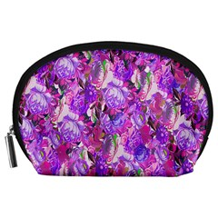 Flowers Abstract Digital Art Accessory Pouches (Large)