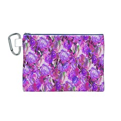 Flowers Abstract Digital Art Canvas Cosmetic Bag (M)
