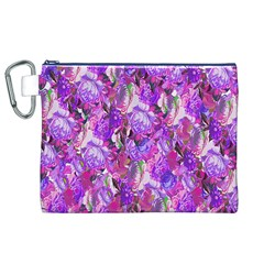 Flowers Abstract Digital Art Canvas Cosmetic Bag (XL)