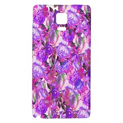 Flowers Abstract Digital Art Galaxy Note 4 Back Case