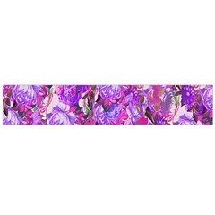 Flowers Abstract Digital Art Flano Scarf (Large)