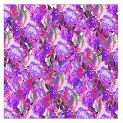 Flowers Abstract Digital Art Large Satin Scarf (square)
