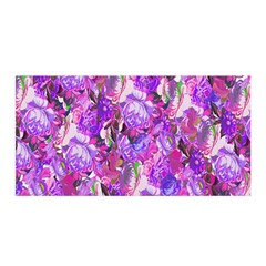 Flowers Abstract Digital Art Satin Wrap