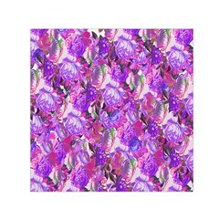 Flowers Abstract Digital Art Small Satin Scarf (Square)