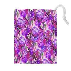 Flowers Abstract Digital Art Drawstring Pouches (extra Large)