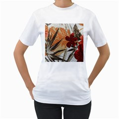 Fall Colors Women s T-Shirt (White) (Two Sided)
