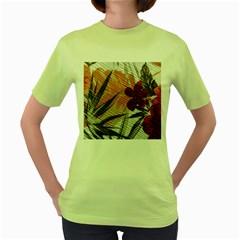 Fall Colors Women s Green T Shirt