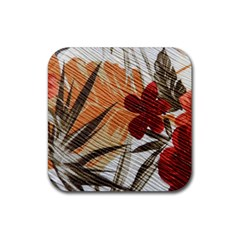 Fall Colors Rubber Square Coaster (4 pack)