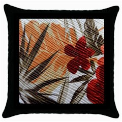 Fall Colors Throw Pillow Case (Black)