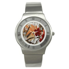 Fall Colors Stainless Steel Watch