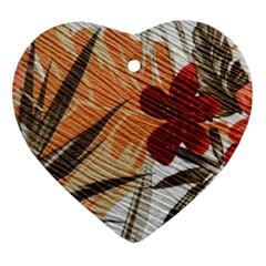 Fall Colors Heart Ornament (Two Sides)