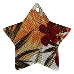 Fall Colors Star Ornament (Two Sides)