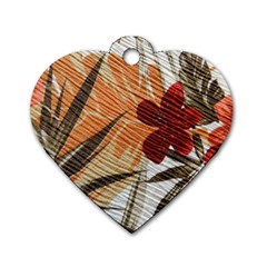 Fall Colors Dog Tag Heart (Two Sides)