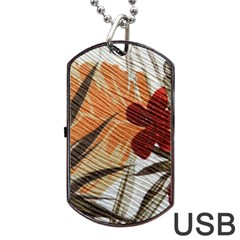 Fall Colors Dog Tag USB Flash (Two Sides)