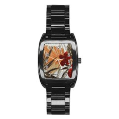 Fall Colors Stainless Steel Barrel Watch