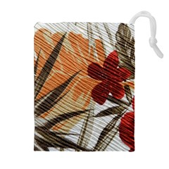 Fall Colors Drawstring Pouches (extra Large)