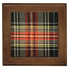 Fabric Texture Tartan Color Framed Tiles