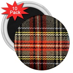 Fabric Texture Tartan Color 3  Magnets (10 pack)