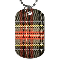 Fabric Texture Tartan Color Dog Tag (One Side)