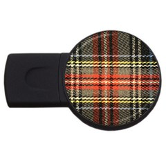 Fabric Texture Tartan Color USB Flash Drive Round (2 GB)