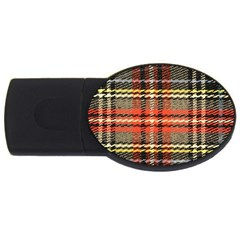 Fabric Texture Tartan Color USB Flash Drive Oval (2 GB)