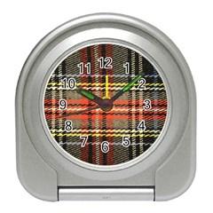 Fabric Texture Tartan Color Travel Alarm Clocks