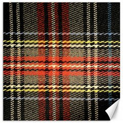 Fabric Texture Tartan Color Canvas 12  X 12
