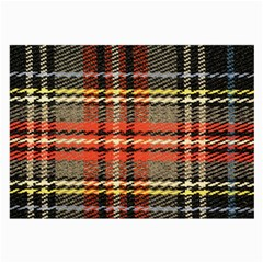Fabric Texture Tartan Color Large Glasses Cloth