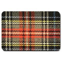Fabric Texture Tartan Color Large Doormat