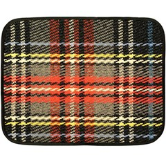 Fabric Texture Tartan Color Double Sided Fleece Blanket (mini)