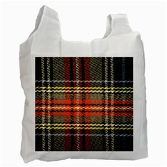 Fabric Texture Tartan Color Recycle Bag (One Side)