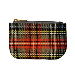 Fabric Texture Tartan Color Mini Coin Purses