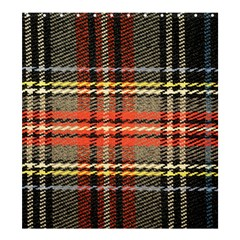 Fabric Texture Tartan Color Shower Curtain 66  x 72  (Large)
