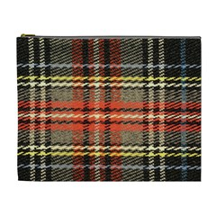 Fabric Texture Tartan Color Cosmetic Bag (XL)