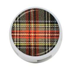 Fabric Texture Tartan Color 4-Port USB Hub (Two Sides)