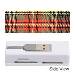 Fabric Texture Tartan Color Memory Card Reader (Stick)