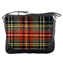 Fabric Texture Tartan Color Messenger Bags
