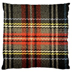 Fabric Texture Tartan Color Large Cushion Case (one Side)