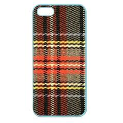 Fabric Texture Tartan Color Apple Seamless Iphone 5 Case (color)