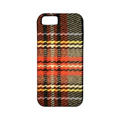 Fabric Texture Tartan Color Apple iPhone 5 Classic Hardshell Case (PC+Silicone)