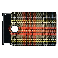 Fabric Texture Tartan Color Apple iPad 3/4 Flip 360 Case