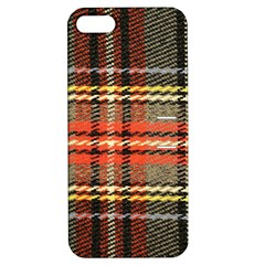 Fabric Texture Tartan Color Apple Iphone 5 Hardshell Case With Stand