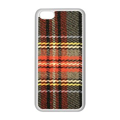 Fabric Texture Tartan Color Apple Iphone 5c Seamless Case (white)